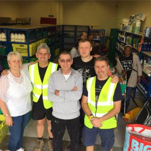 Some of our volunteers with TRJFP founder Adam Smith