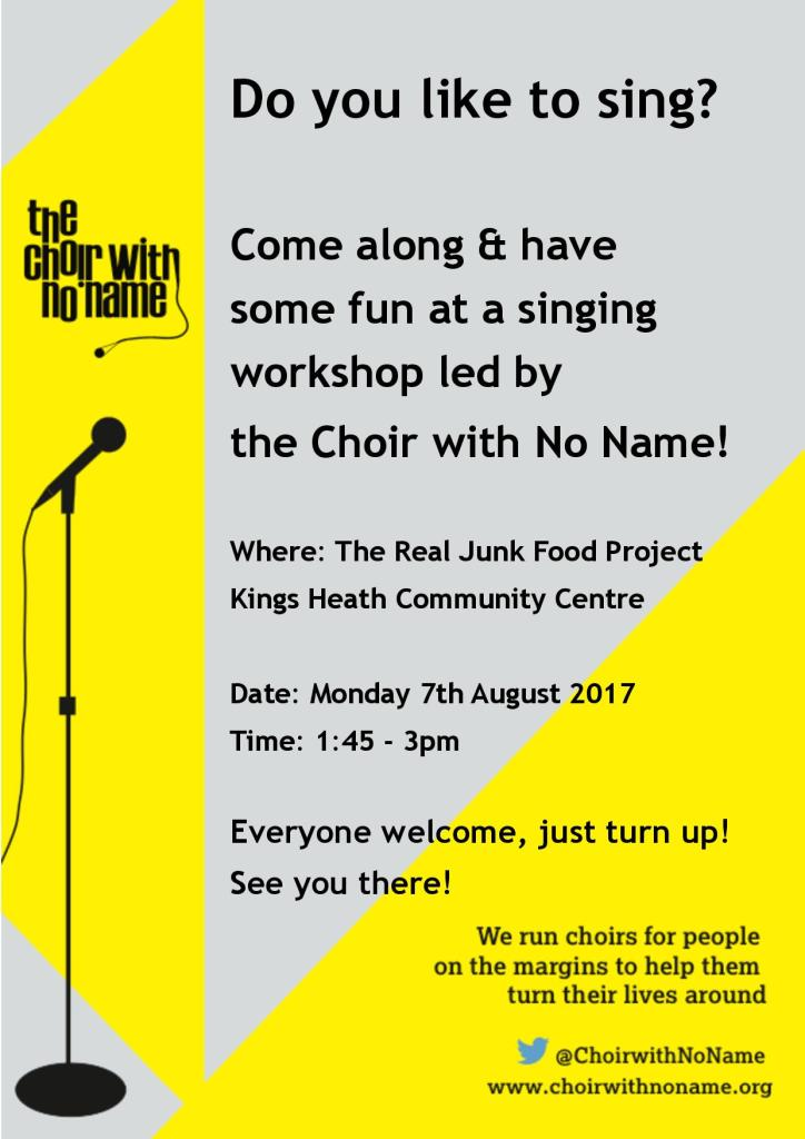 Choir With No Name workshop poster
