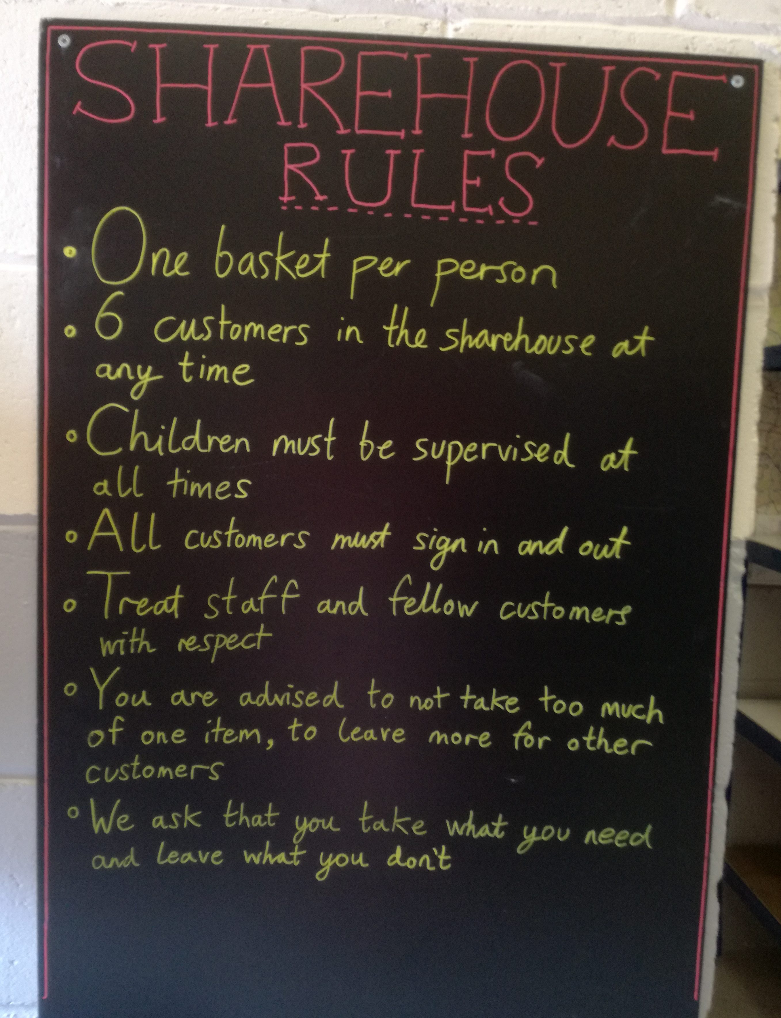 Sharehouse Rules