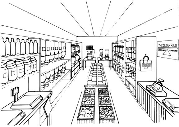 Artist's Impression of shop interior